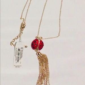 Jewelry - Dillards Lady Bug Necklace with Tassel 32in.